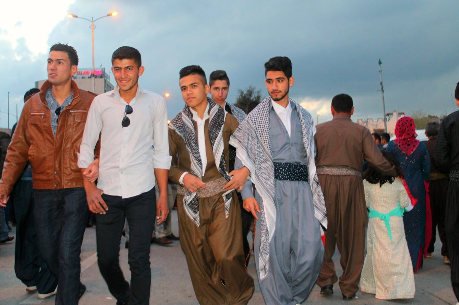 Boys dressed up in Kurdish traditional clothes for Newroz, 20th of March 2015, Sulaymaniyah, by Azad Bozan