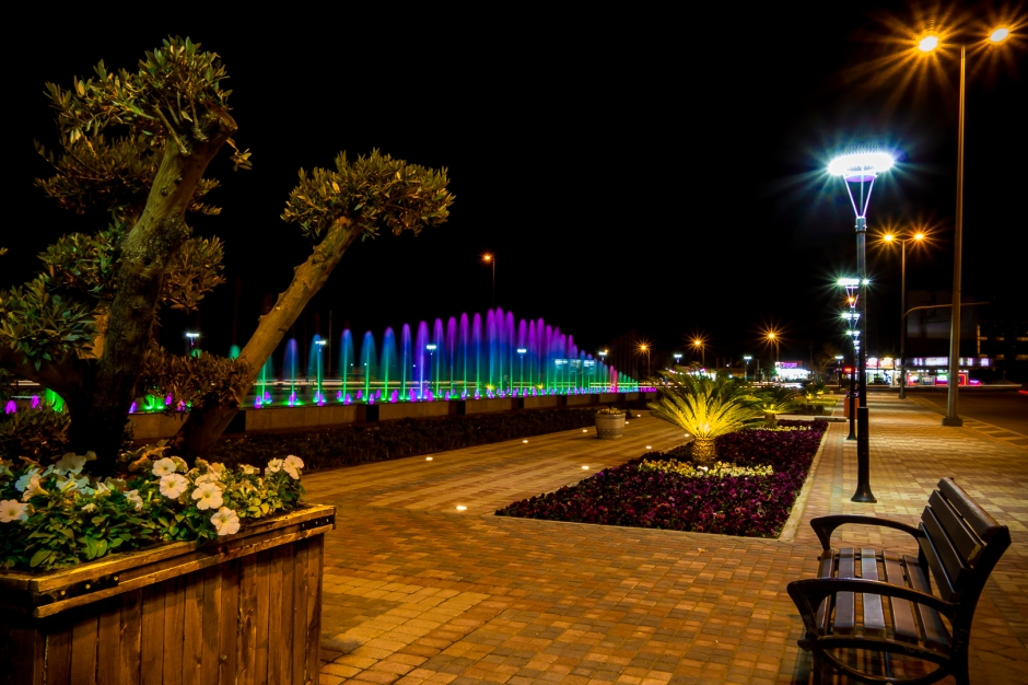 Dancing Fountain near Minaret and Shanadar Park, Erbil, by Rawen Pasha