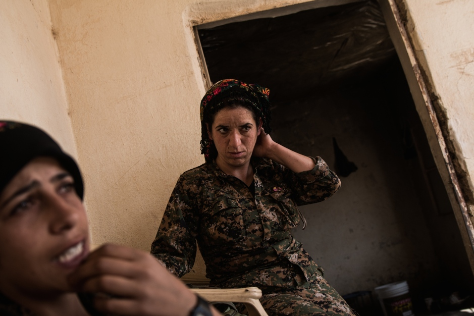 Commander Takoshin has been with the movement since its formation in 2012, and also has previous experience with the PKK. Today women make up nearly half of the PKK's membership