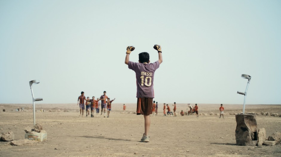 A scene of Baghdad Messi film by Sahim Omar Kalifa