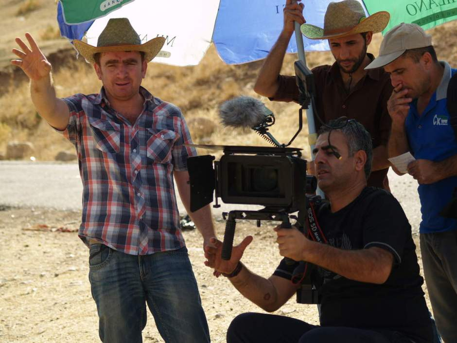 Kalifa while shooting his film Bad Hunter