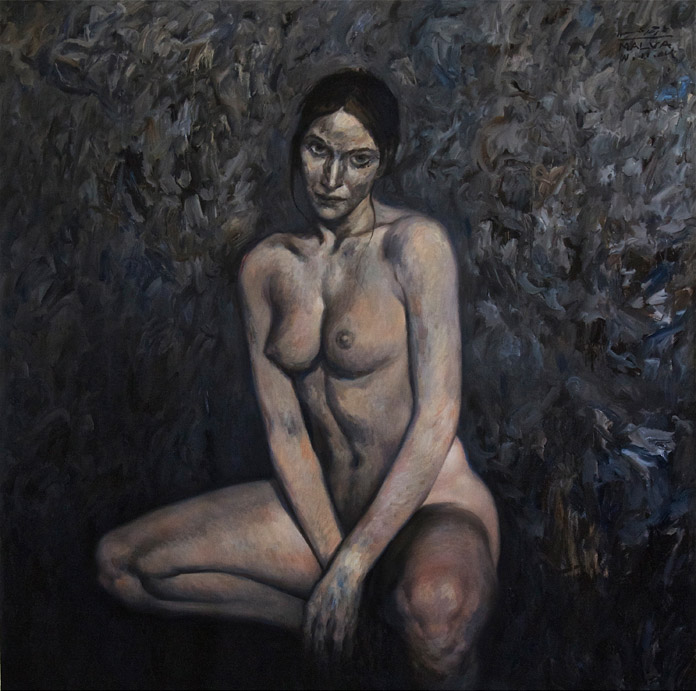 The-Model-140x140cm-oil-on-canvas