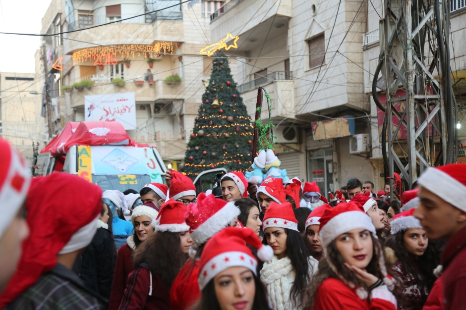 Christmas celebrations in Qamishlo, Rojava by Delil Suleiman