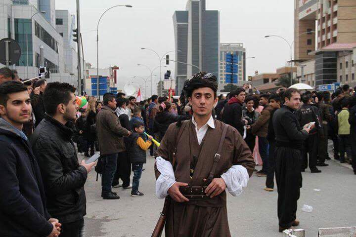 A Kurdish man with traditional clothes