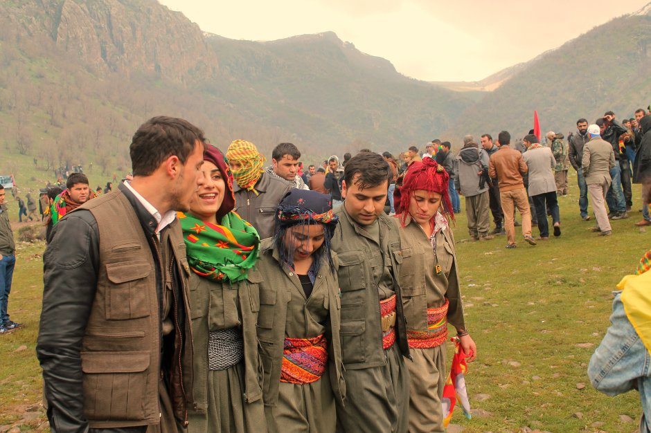 Garilla dance in Qaneel Mountains during Newroz celebration in 2015 by Azad Bozan